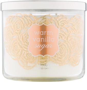 Bath & Body Works Warm Vanilla Sugar ароматна свещ  411 гр.