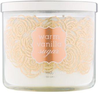 Bath & Body Works Warm Vanilla Sugar vonná svíčka 411 g