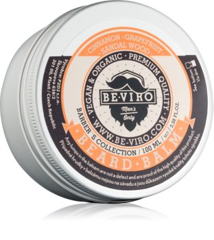 Be-Viro Men's Only Grapefruit, Cinnamon, Sandal Wood balsamo per barba