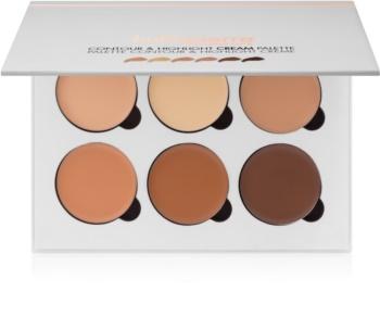 BelláPierre Contour & Highlight Creme-Palette für die Gesichtskonturen