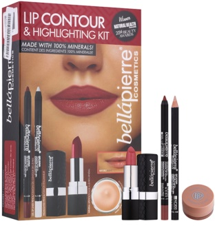 BelláPierre Lip Contour & Highlighting Kit coffret cosmétique I.