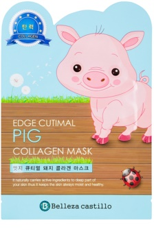 Belleza Castillo Edge Cutimal Pig masque visage au collagène