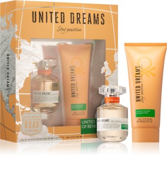 Benetton United Dreams for him Stay Positive Gift Set III. for Women