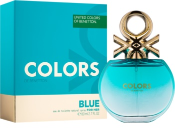 Benetton Colors de Benetton Blue Eau de Toilette voor Vrouwen  80 ml
