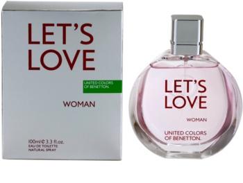 Benetton Let's Love Eau de Toilette para mulheres 100 ml