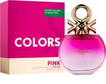 Benetton Colors de Benetton Pink Eau de Toilette voor Vrouwen  80 ml