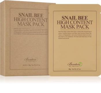 Benton Snail Bee plátýnková maska pro kompletní péči s hlemýždím extraktem