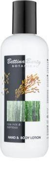 Bettina Barty Botanical Rice Milk & Bamboo kéz és testápoló krém hidratáló hatással