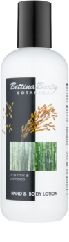 Bettina Barty Botanical Rice Milk & Bamboo Lapte de mâini și de corp cu efect de hidratare