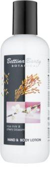 Bettina Barty Botanical Rise Milk & Cherry Blossom loção corporal e para mãos com efeito hidratante