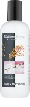 Bettina Barty Botanical Rise Milk & Cherry Blossom mléko na ruce a tělo s hydratačním účinkem