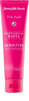 Beverly Hills Formula Professional White Range bělicí zubní pasta s fluoridem pro citlivé zuby