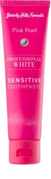 Beverly Hills Formula Professional White Range избелваща паста за зъби с флуорид за чувствителни зъби