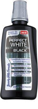 Beverly Hills Formula Perfect White Black bieliaca ústna voda s aktívnym uhlím pre svieži dych
