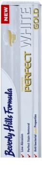 Beverly Hills Formula Perfect White Gold pasta de dientes antibacteriana con partículas de oro