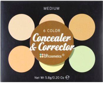 BH Cosmetics 6 Color палетка коректорів