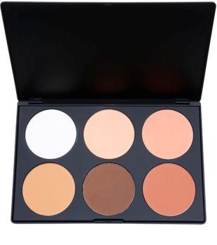 BH Cosmetics Contour & Blush paleta na kontúry tváre