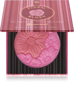 BH Cosmetics Floral róż do policzków duo z lusterkiem