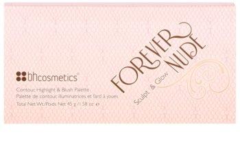 BH Cosmetics Forever Nude Sculpt & Glow arckontúr paletta tükörrel