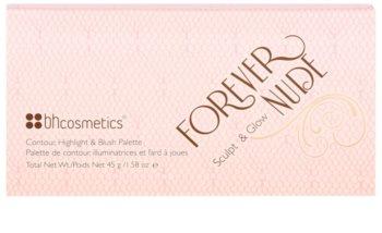 BH Cosmetics Forever Nude Sculpt & Glow palette contour de visage avec miroir