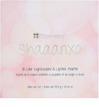 BH Cosmetics Shaaanxo szemhéjfesték és rúzs paletta