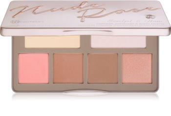 BH Cosmetics Nude Rose Sculpt & Glow kontúrovacia paletka na tvár