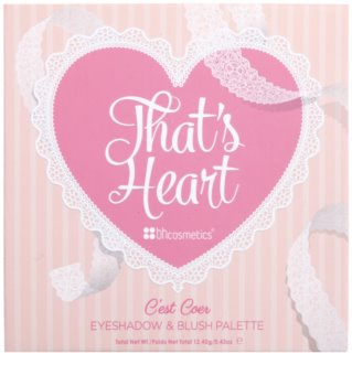 BH Cosmetics That´s Heart paleta dekorativní kosmetiky se zrcátkem