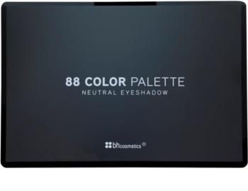 BHcosmetics 88 Color Neutral Palette mit Lidschatten mit Spiegel