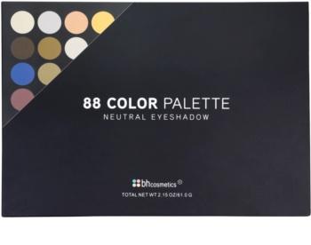 BHcosmetics 88 Color Neutral palette di ombretti con specchietto