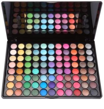 BH Cosmetics BHcosmetics 88 Color Shimmer paleta očních stínů se zrcátkem a aplikátorem