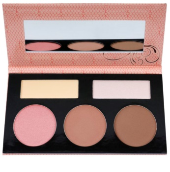 BHcosmetics Forever Nude Sculpt & Glow Contouring Palette with Mirror