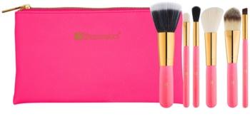 BHcosmetics Neon Pink набір щіточок для макіяжу