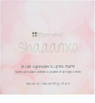 BHcosmetics Shaaanxo paleta cu diferite nuante de farduri si rujuri