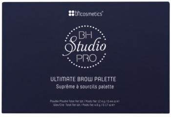 BHcosmetics Studio Pro paleta pro líčení obočí
