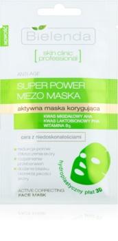 Bielenda Skin Clinic Professional Correcting máscara em folha contra imperfeições de pele acneica