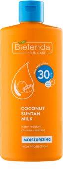 Bielenda Bikini Coconut nawilżające mleczko do opalania SPF 30