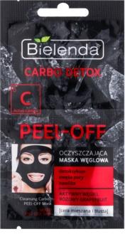 Bielenda Carbo Detox Active Carbon peel-off maska za lice s aktivnim ugljenom za mješovitu i masnu kožu lica