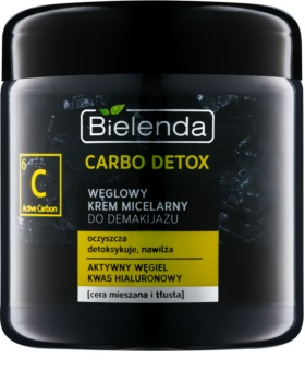 Bielenda Carbo Detox Active Carbon Cleansing Micellar Cream with Activated Charcoal for Oily and Combination Skin