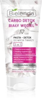Bielenda Carbo Detox White Carbon pasta detergente 3 in 1