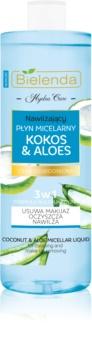 Bielenda Hydra Care Coconut & Aloe micelarna voda za odstranjevanje ličil za dehidrirano suho kožo