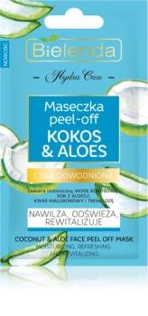 Bielenda Hydra Care Coconut & Aloe slupovací pleťová maska s hydratačním účinkem