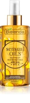 Bielenda Sensual Body Oils huile corporelle nourrissante à la vitamine C