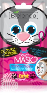 Bielenda Crazy Mask Kitty maschera detergente 3D