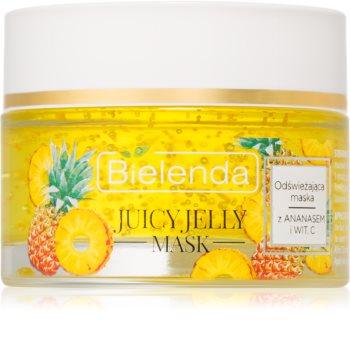 Bielenda Juicy Jelly Pineapple & Vitamine C maschera rinfrescante per pelli stanche