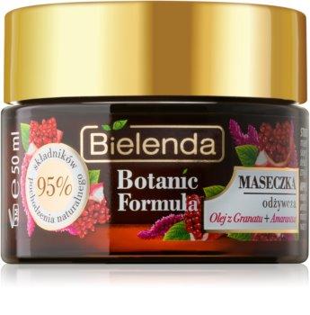 Bielenda Botanic Formula Pomegranate Oil + Amaranth maschera idratante e nutriente viso