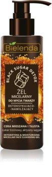 Bielenda Black Sugar Detox micelarni čistilni gel z vlažilnim učinkom
