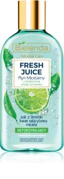 Bielenda Fresh Juice Lime eau micellaire pour peaux mixtes et sensibles