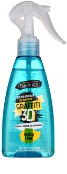 Bielenda Graffiti 3D Beach Look Spray com sal para styling para cabelo