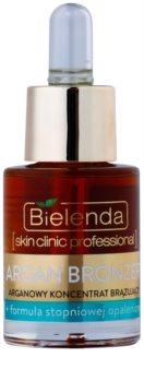 Bielenda Skin Clinic Professional Argan Bronzer ulei bronzant fata
