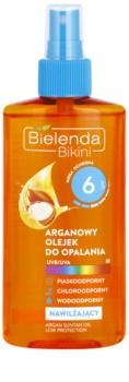 Bielenda Bikini Argan Oil óleo bronzeador em cápsulas  SPF 6